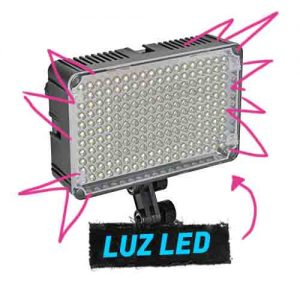 Luz led para cámaras Mirrorless o dslr